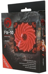 ABANICO CASE 120MM MARVO GAMING FN-10RD ROJO