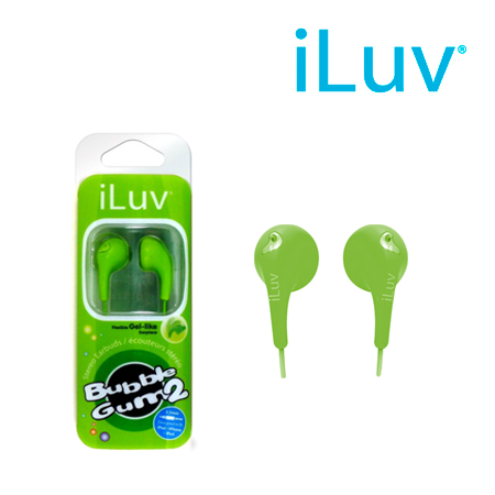 AUDIFONOS ILUV 3.5MM BUBBLE GUM II GRN