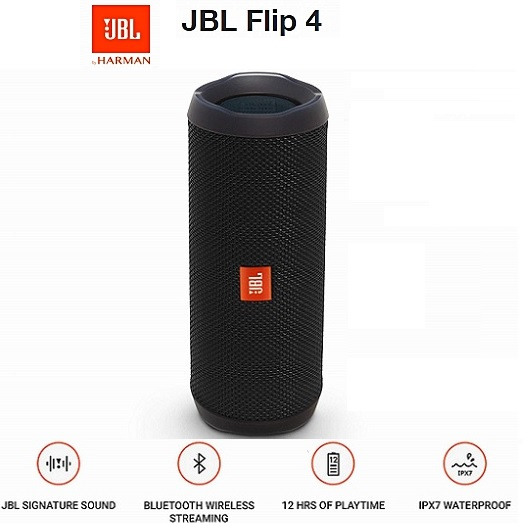 Bocinas Portable Jbl Flip4 Bluetooth Black