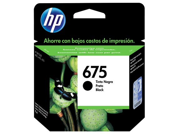CART. HP CN690A  #675  BLACK