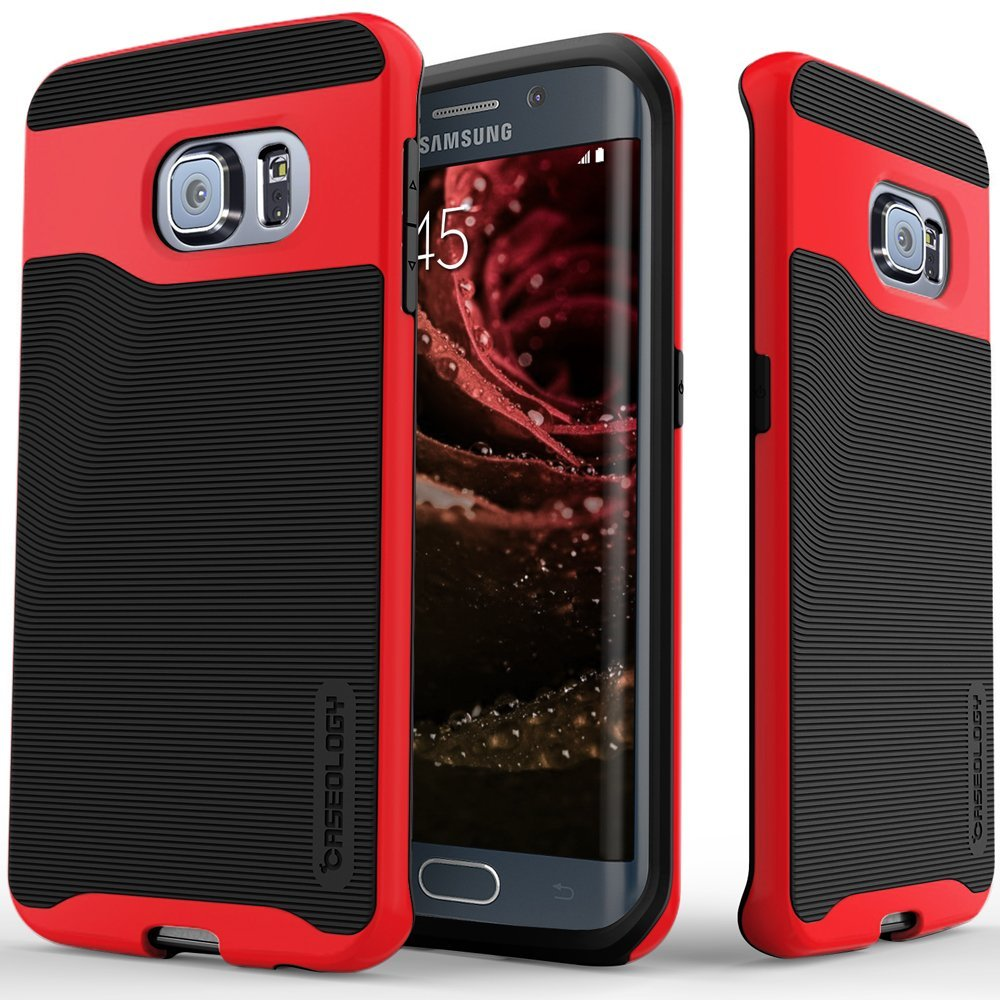 COVER CEL GALAXY S6 EDGE CASEOLOGY RED