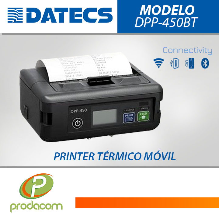DATECS DPP-450BT PRINTER TERMICO MOVIL