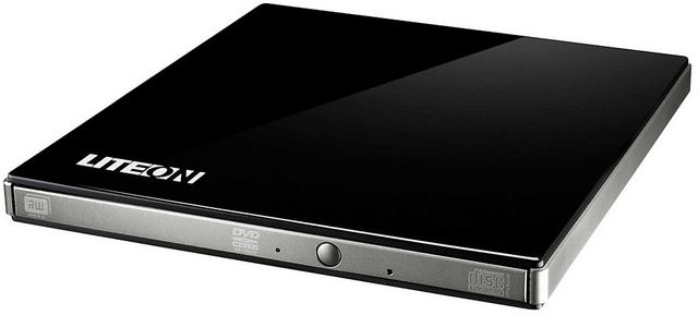 DVD+/-RW 8X LITEON SLIM BLACK USB EXTERNAL