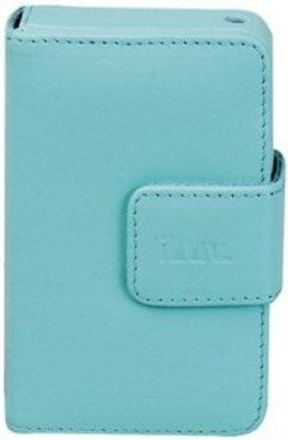 IPOD ILUV LEATHER CASE W/COVER P/VIDEO BLUE I-106B BLU