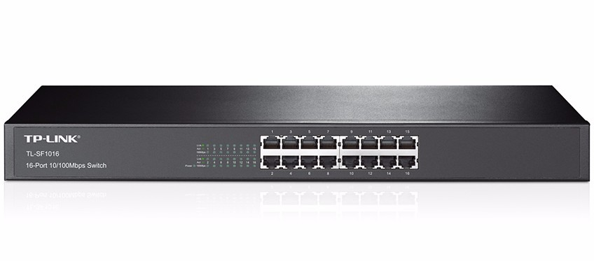 Lan Switch 16p Tp-link 10/100 Tl-sf1016 Rack Mount