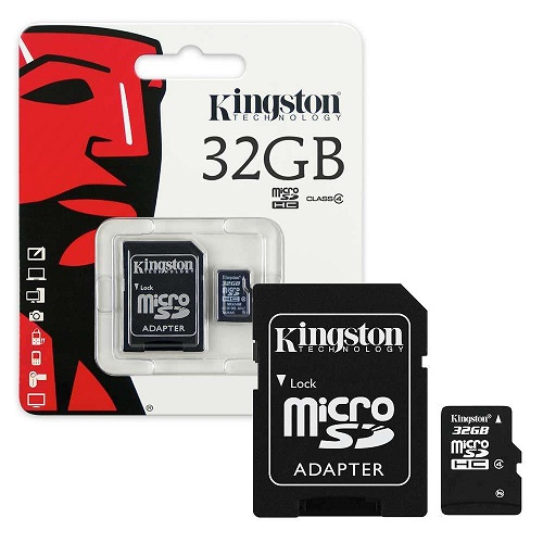 MEMORY 32.0 GB MICROSD KINGSTON SD4/32GB CLASS4