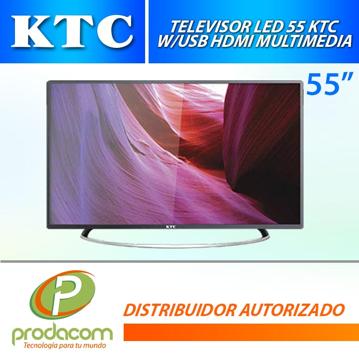 TV LED 55 KTC 55L51D/91F W/USB HDMI