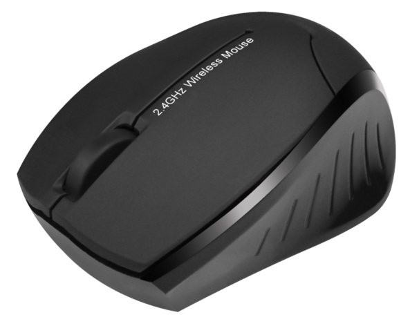 Mouse Usb Klipx Wireless Kmo-310bk Black