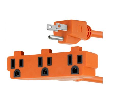CABLE EXTENSION ELECTRICA FORZA 3 OUTLETS FOC-1302OR