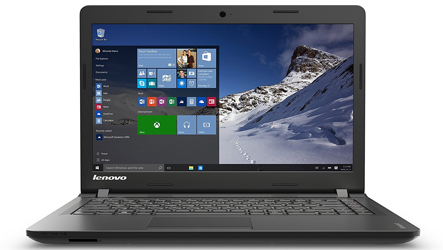 NOTEBOOK LENOVO IDEAPAD 100 15.4 80MH007YUS