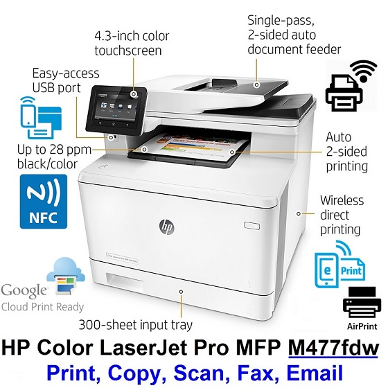 PRINTER HP LASERJET PRO M477FDW WIFI CF379A