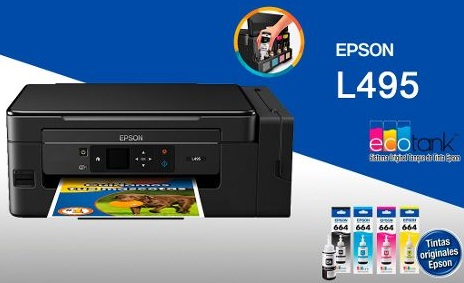 PRINTER EPSON ECO TANK L495 MULTIFUNCIONAL