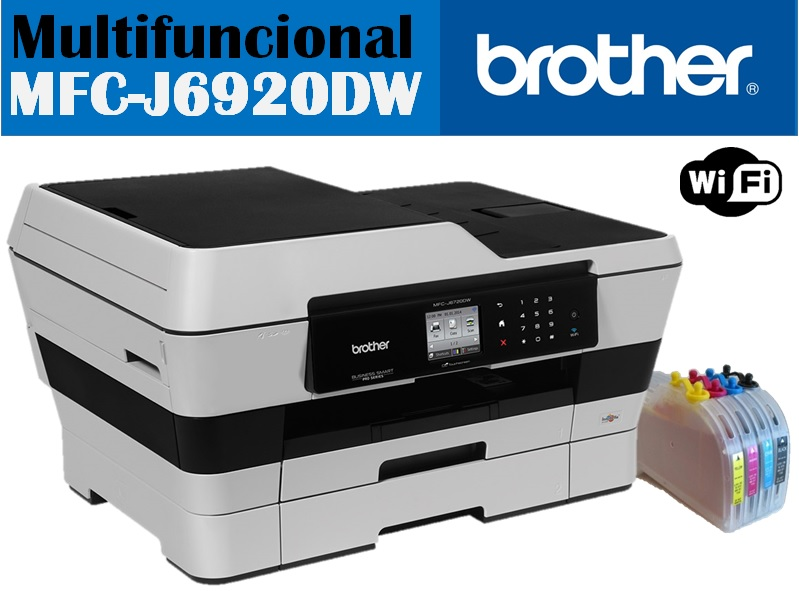 PRINTER BROTHER MFC-J6920DW + SISTEMA TINTA REAL COLOR