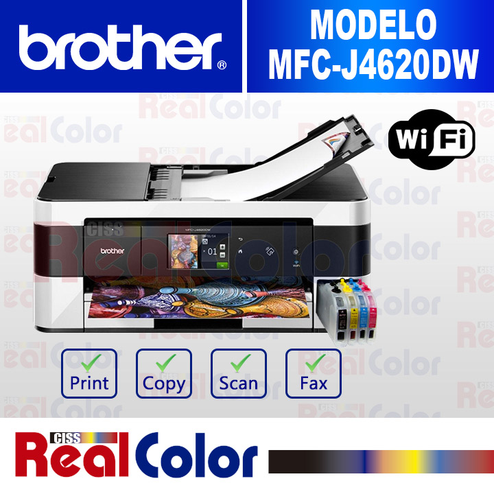 PRINTER BROTHER MFC-J4620DW + SISTEMA TINTA