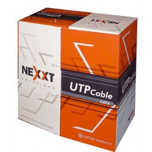 Rj-45 Cable Utp Cat6 Rollo 1000ft Nexxt  Red