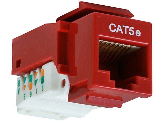 Rj-45 Jack Keystone Nexxt Cat5e Toolless Red