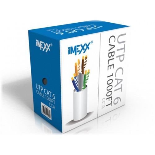 RJ-45 CABLE UTP CAT6E IMEXX  ROLLO 1000FT WH