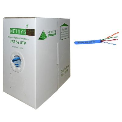 RJ-45 CABLE UTP CAT5 ROLLO 1000FT NETSYS BL