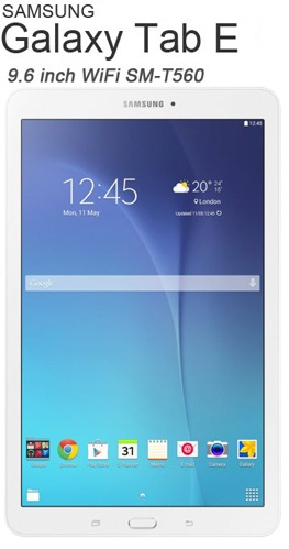 TABLET 9.6 SAMSUNG GALAXY E T560 WH