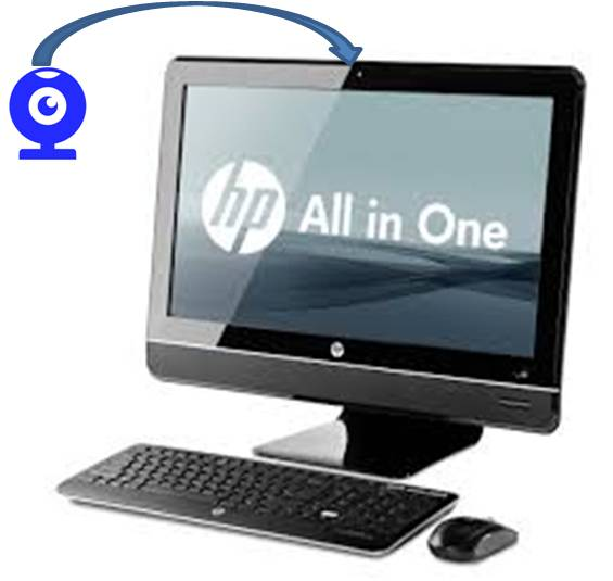 Pc Hp Elite All In One Ci5 23p 8300 Webcam Used