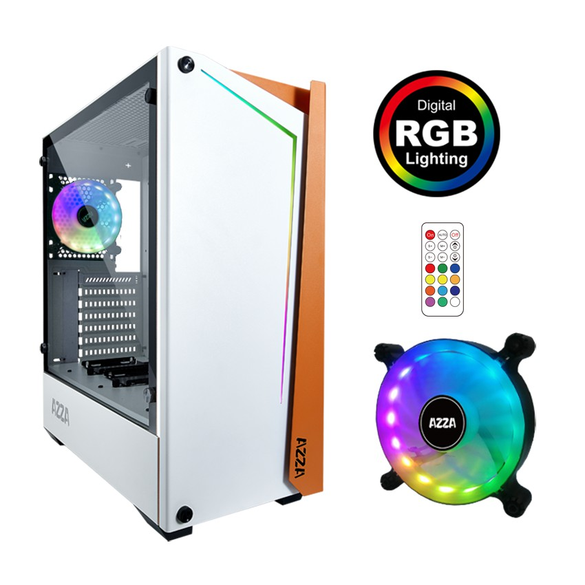 Case Atx Gaming Azza Apollo 430df2-w White
