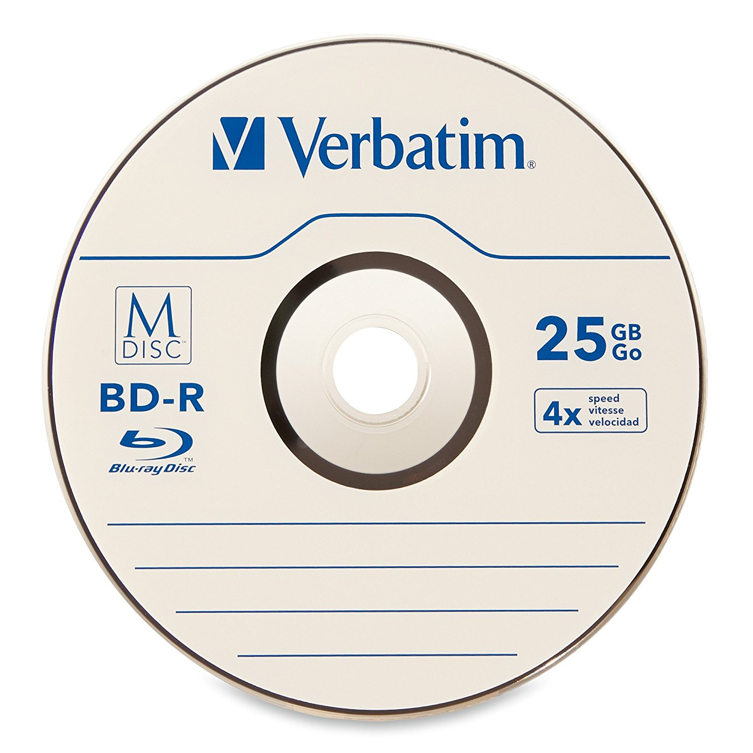 Blank Dvd+r Verbatin 25gb 4x Bluray
