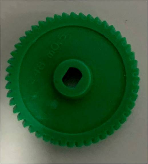 Custom Wheel Right Helical Teeth M=0.50 Z=48 Rolo