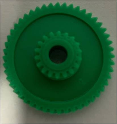 Custom Clockwise Helical Gear Wheel M=0.40 Z=54 Rolo