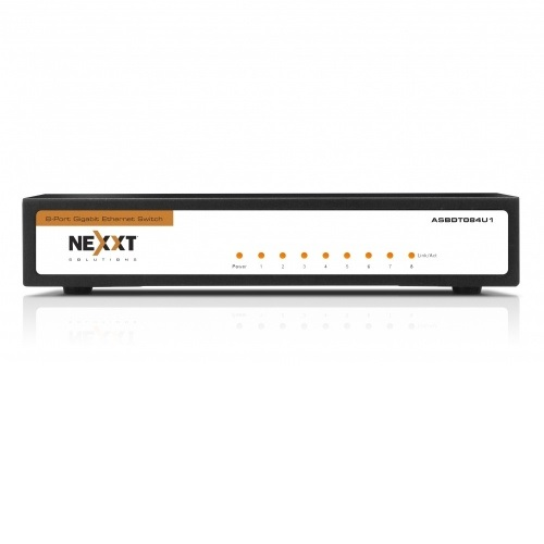 Lan Switch 8p Nexxt 100/1000 Axis800 Gigabit Asbdt084u1