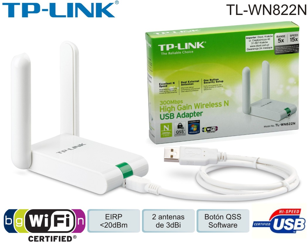Lan Usb Dongle Tp-link Wireless Tl-wn822n