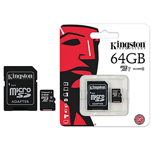 Memory 64.0 Gb Microsd Kingston (sdcs/64gb) Class4