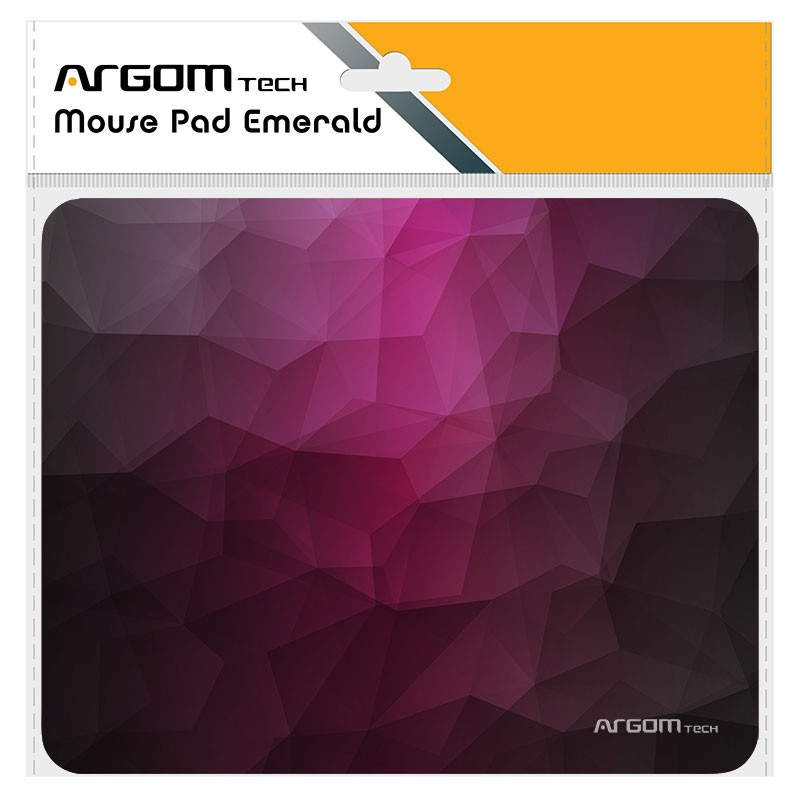 Mouse Pad Cloth/rubber Argom Arg-ac-1233r Red