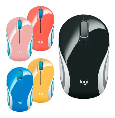 Mouse Usb Logitech M187 Wireless Black/colors