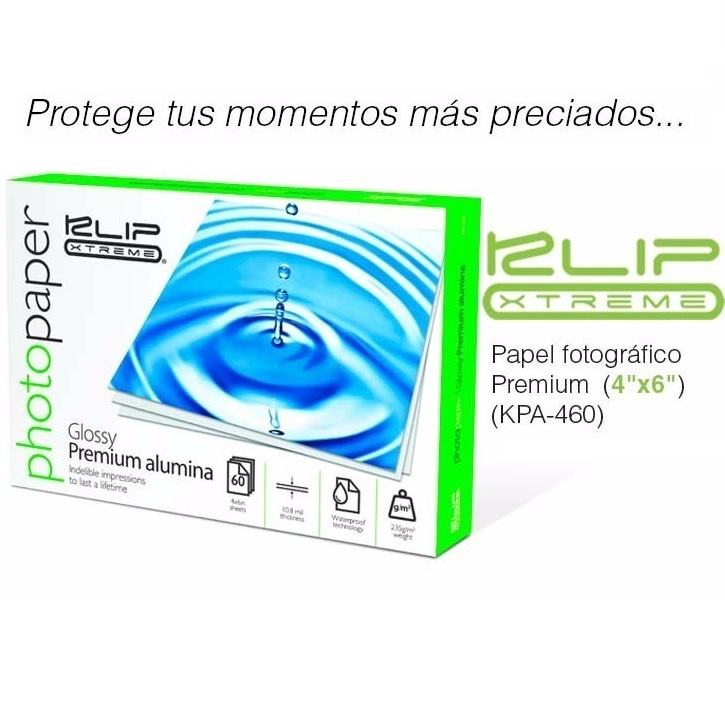 Papel Photo 60p Glossy Klipx 4*6 Alumina Waterproof (kpa-460)