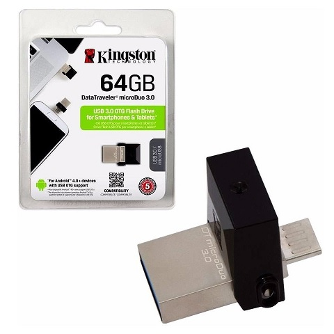 Pen Drive 64.0 Gb Kingston Data Traveler Microduo Dtduo3/64gb