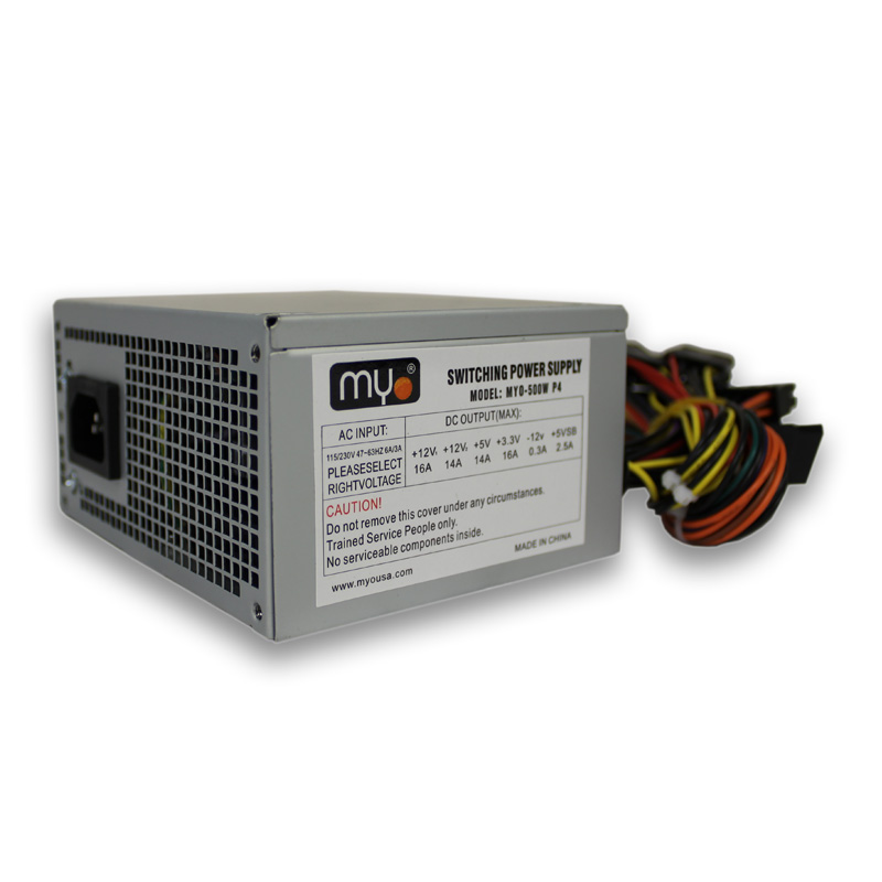 Power Supply 500w  W/sata 20+4 Pure Power Myo