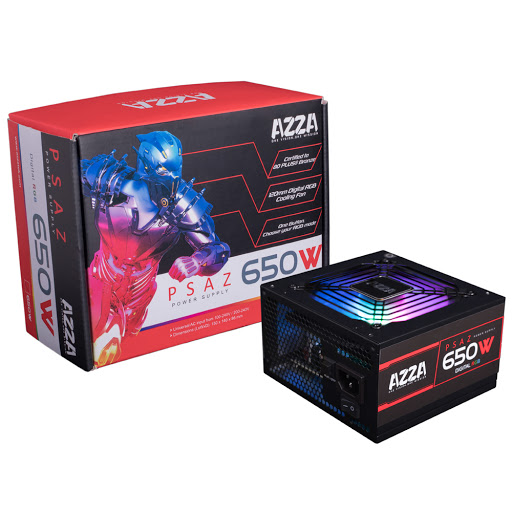 Power Supply 650w Azza 80 Plus Bronze Argb Gaming