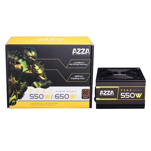 Power Supply  550w Azza 80 Plus Bronze