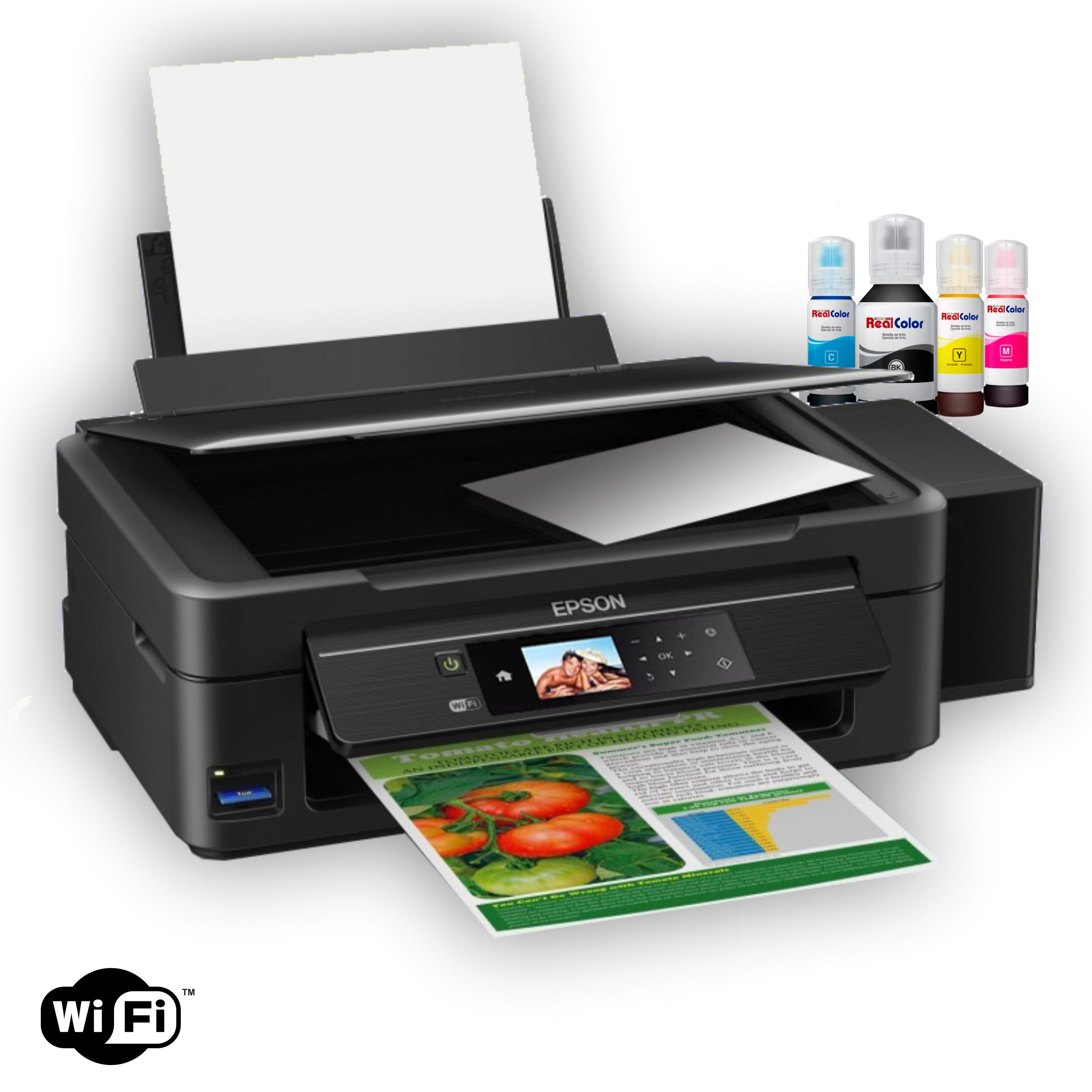 Printer Epson Xp-446 + Sistema Tinta Real Color