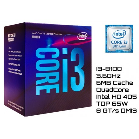 Proc. Intel Core I3-8100 3.6ghz Lga 1151