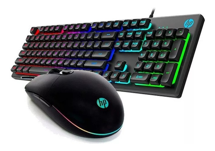 Teclado/mouse Usb Gaming Hp Km300f New